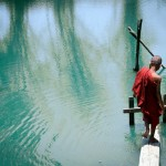 Monk walking down to lake, Myanmar Jocelyn Voo Aw Yeah Photo travel photography