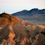 man on top of mountain in Death Valley