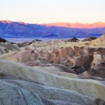 mountains in Death Valley at sunrise