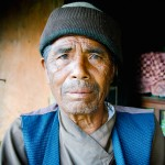 Nepal photography. Old Nepalese man portrait.