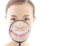 oil pulling girl smiling